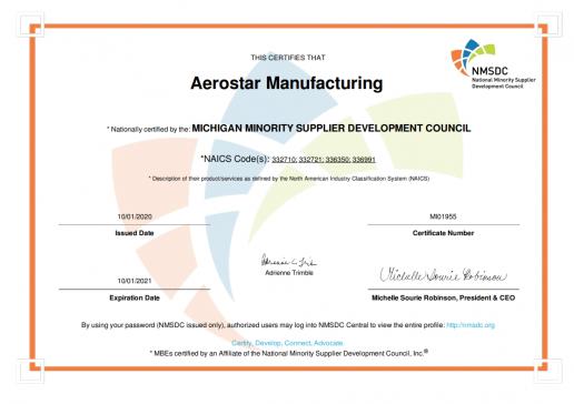 2020-10-27 10_42_49-NAPDEV Certificate - Aerostar Manufacturing